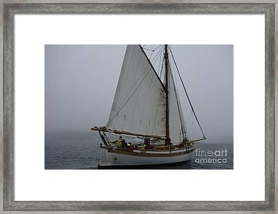 Gaff Rigged Sloop  Framed Print