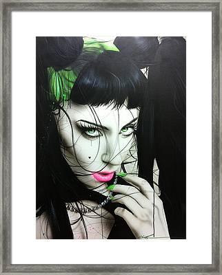 Lady Gaga - ' Gaga Iv ' Framed Print by Christian Chapman Art