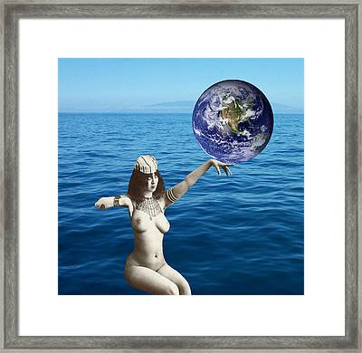 Gaia Framed Print by Matthew Lacey