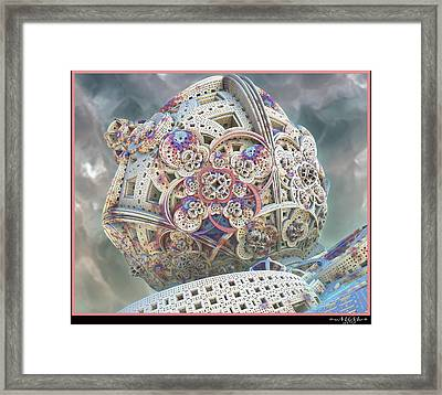 Framed Print featuring the digital art Gaia by Melissa Messick