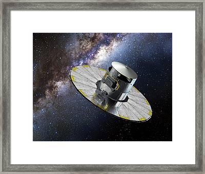 Gaia Space Probe Framed Print by European Space Agency/d. Ducros
