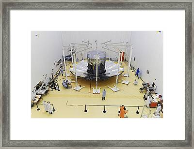 Gaia Space Probe Testing Framed Print by M Pedoussaut/european Space Agency