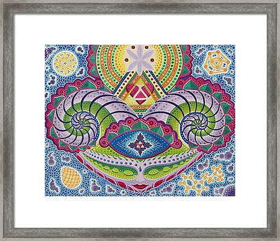 Gaian Mind Framed Print by Christopher Sheehan