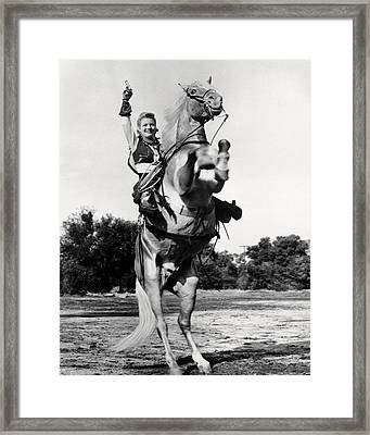 Gail Davis In Annie Oakley  Framed Print