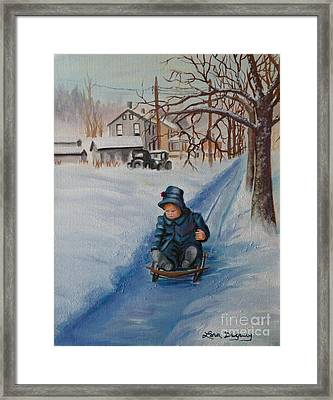 Gails Christmas Adventure Framed Print