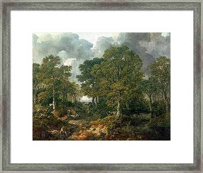 Gainsboroughs Forest Cornard Wood, C.1748 Oil On Canvas Framed Print