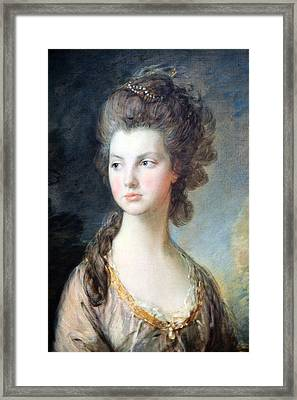 Gainsborough's The Hon. Mrs. Thomas Graham Up Close Framed Print