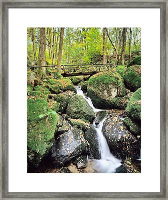 Gaisholle Waterfall In Autumn Framed Print by Panoramic Images