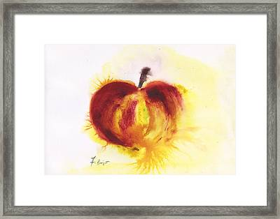 Gala Apple  Framed Print by Frank Bright