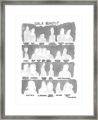 Gala Benefit Framed Print by Michael Crawford