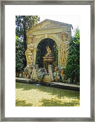 Gala Dali Castle In Pubol Spain Framed Print by Gregory Dyer