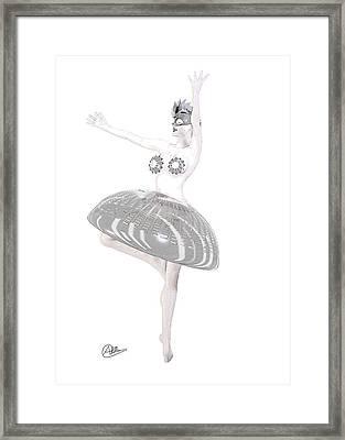 Cyber Dancer Framed Print by Quim Abella