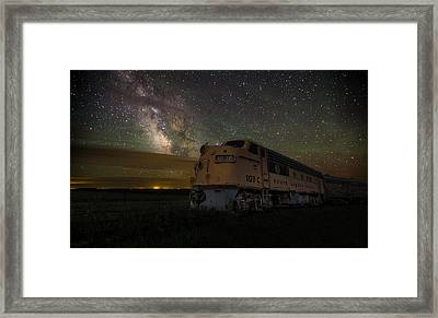 Galactic Express Framed Print by Aaron J Groen
