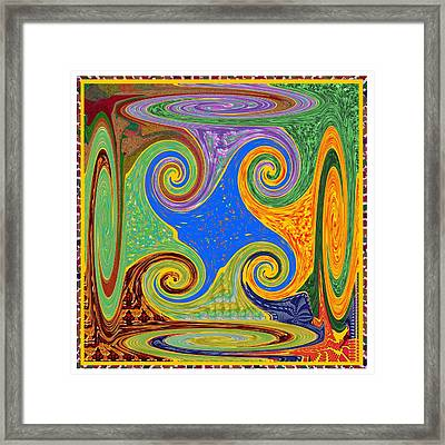 3d Twirl Galactic Invisible Teleport Station 2050 Alien Galaxy Communication Technology Startrack  Framed Print
