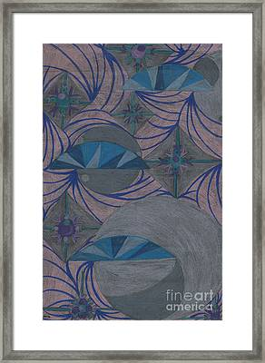 Framed Print featuring the drawing Galactic by Kim Sy Ok