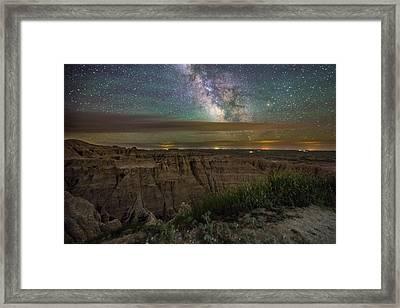 Galactic Pinnacles Framed Print by Aaron J Groen