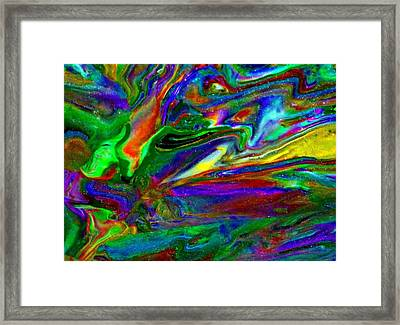 Galactic Storm Framed Print