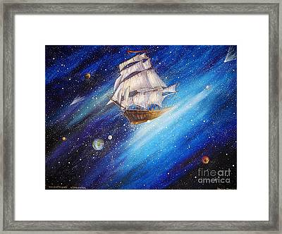 Galactic Traveler Framed Print