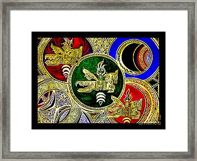 Galactic Windhorses Framed Print by Susanne Still