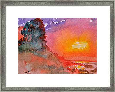 Galapagos Sunset Framed Print by Warren Thompson