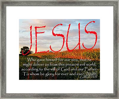 Galatians 1 Four To Five Framed Print