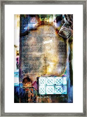 Galatians 1 Framed Print by Switchvues Design