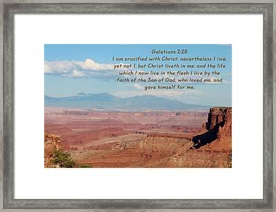 Galatians 2-20 Canyonlands Np Framed Print