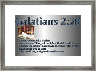 Galatians 2 20 Framed Print by Ricky Jarnagin