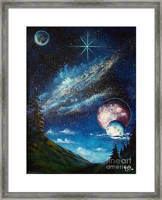 Galatic Horizon Framed Print by Murphy Elliott
