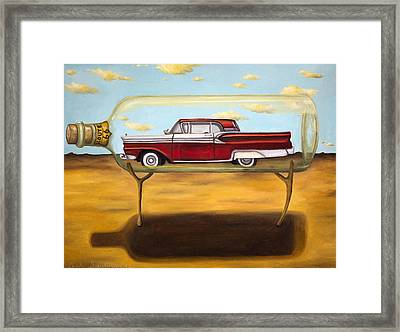 Galaxie In A Bottle Framed Print by Leah Saulnier The Painting Maniac