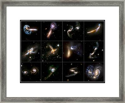 Galaxies Collide Collage Framed Print by Jennifer Rondinelli Reilly - Fine Art Photography