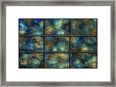 Galaxies II Framed Print by Betsy C Knapp