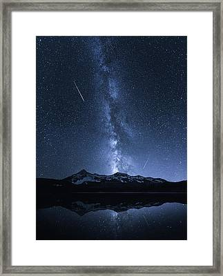Galaxies Reflection Framed Print