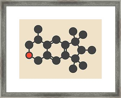 Galaxolide Synthetic Musk Molecule Framed Print