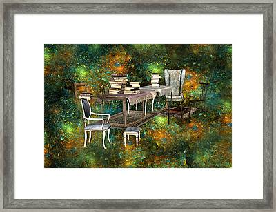 Galaxy Booking Framed Print by Betsy Knapp