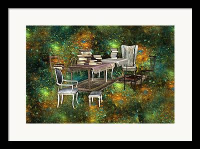 Fractal Galaxies Framed Prints