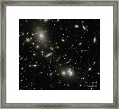 Galaxy Cluster Abell 68 Framed Print by Science Source
