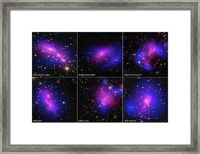 Galaxy Clusters And Dark Matter Framed Print by Nasa/stsci/cxc/esa