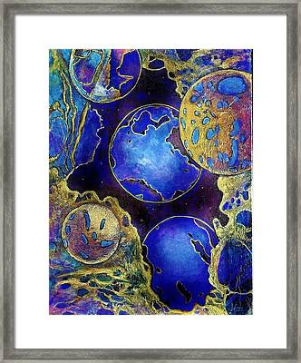 Galaxy Five Framed Print by JAXINE Cummins