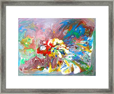Galaxy Formation Framed Print by Augusta Stylianou