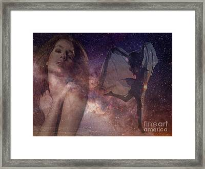 Galaxy Goddess Framed Print by Maureen Tillman