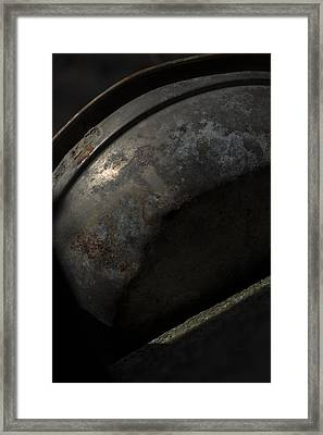 Galaxy In A Galvanized Pan Framed Print by Rebecca Sherman