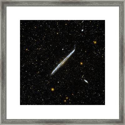 Galaxy Ngc 4565 Framed Print by Nasa/jpl-caltech