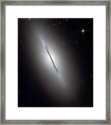Galaxy Ngc 5866 Framed Print by Nasa