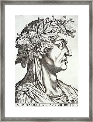 Galba Caesar  Framed Print by Italian School