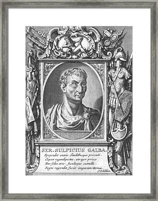 Galba, Roman Emperor Framed Print by Science Photo Library