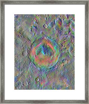 Gale Crater Framed Print by Nasa/jpl-caltech/asu