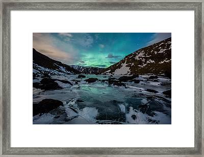 Gale-force Aurora H Framed Print