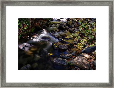 Galena Creek Fall Waterfall Framed Print by Scott McGuire