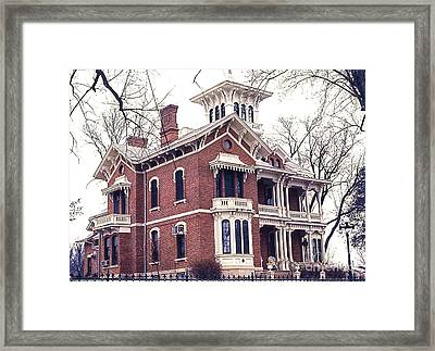 Galena Illinois. The Beautiful Victorian Belvedere Home. Framed Print
